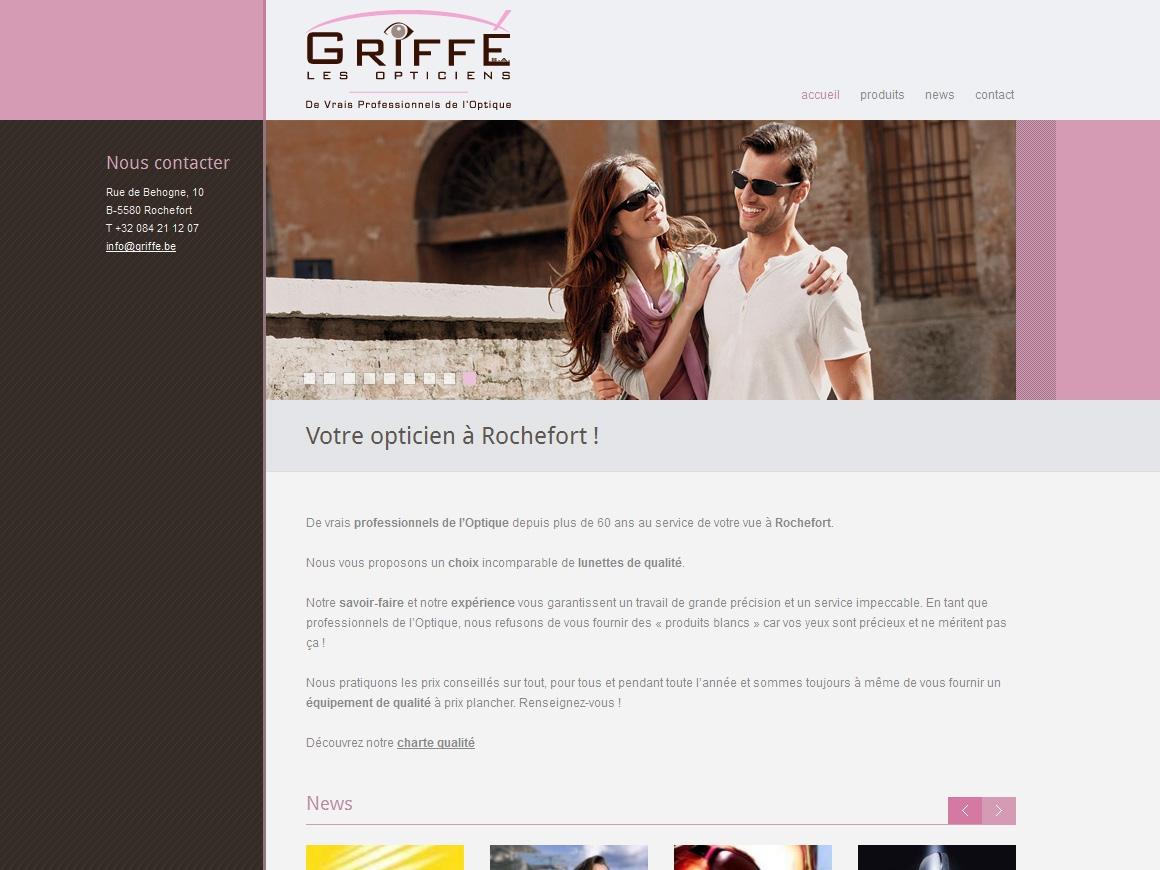 Webmade   Opticiens Griffé 96ff2b6937f1